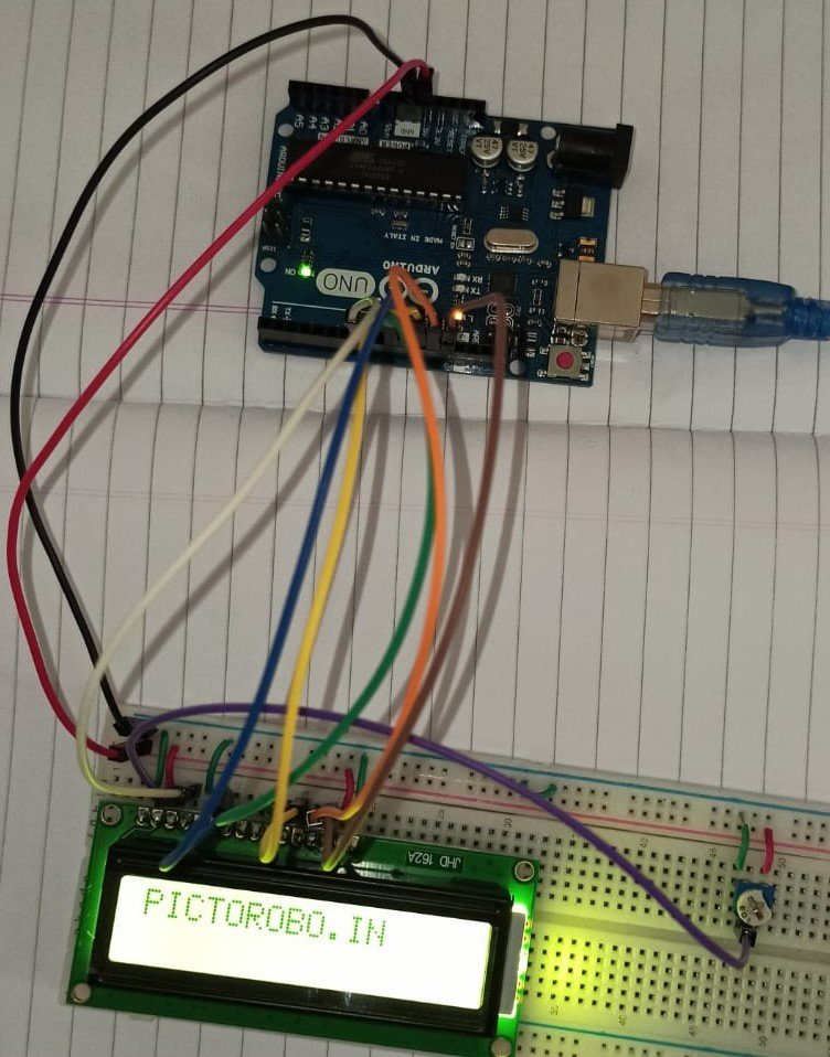 Interface LCD with an Arduino